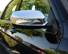 TFP 524 Car Mirror Insert Top Cover Plastic Chromed Finish