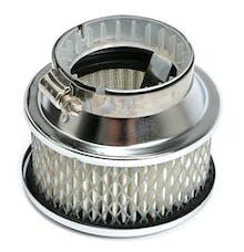 "Trans Dapt Performance 2170 Deep Dish Style Air Cleaner Set 4"" Diameter, 2"" Tall, 2-5/8"" Neck-CHROME"