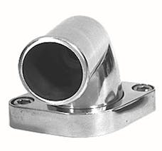 Trans Dapt Performance 6007 90 deg Swivel Style Water Neck; O-Ring Seal;SB or BB Chevy V8- Polished ALUMINUM