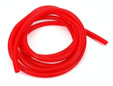 "Trans Dapt Performance 7585 RED Wire Harness; Convoluted; 3/8"" Diameter- (10 ft)"