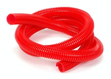 "Trans Dapt Performance 7587 RED Wire Harness; Convoluted; 3/4"" Diameter- (5 ft)"