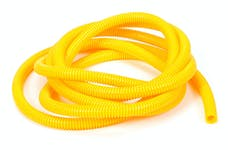 "Trans Dapt Performance 7589 YELLOW Wire Harness; Convoluted; 3/8"" Diameter- (10 ft)"