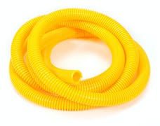 "Trans Dapt Performance 7590 YELLOW Wire Harness; Convoluted; 1/2"" Diameter- (7 ft)"