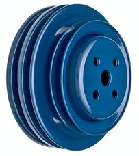 Trans Dapt Performance 8314 WATER PUMP Pulley; 3 Groove; 64-73 FORD 289 w/CA smog pump; O.E. W/P- FORD BLUE