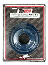 Trans Dapt Performance 8315 CRANKSHAFT Pulley; 1 Groove; 65-66 FORD 289; O.E. Water Pump- FORD BLUE