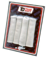 """Trans Dapt Performance 8815 SPARKPLUG WIRE BOOT PROTECTORS (4 pcs.); Universal Fit; 6"""" Long- SILVER"""
