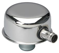 "Trans Dapt Performance 9241 ""PUSH-IN"" Style Breather Cap w/TUBE (w/Grommet); 2-3/4"" Overall Diameter -CHROME"