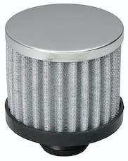 "Trans Dapt Performance 9308 3"" Tall ""PUSH-IN"" Style Breather; Open Cotton Filter Element; 1-1/4"" Hole-CHROME"
