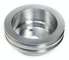 Trans Dapt Performance 9485 CRANKSHAFT Pulley; 2 Groove; CHEVROLET 283-350;LONG W/P-Machined ALUMINUM