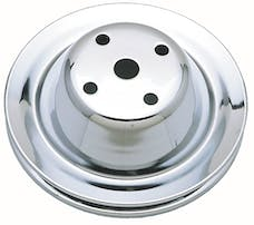 Trans Dapt Performance 9604 WATER PUMP Pulley; 1 Groove; 1969-1985 CHEVROLET 283-350; LONG Water Pump-CHROME