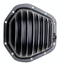 Trans Dapt Performance 9935 DANA 60 Style, Black Powder-Coated Aluminum Differential Cover w/ Polished fins
