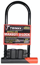 "Trimax MAX601 Medium Security Bicycle U-Shackle 4-1/8"" X 8"" Inside with 14mm Hardened Sha"