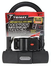 "Trimax MAX701 Medium Security Mini U-Shackle Lock 3.5"" X 5.5"" with 15mm Shackle"
