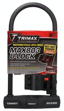 "Trimax MAX803 Max Security U-Shackle Lock 4.5"" X 10.5"" with 14mm Shackle"