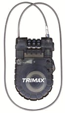 "Trimax T33RC Retractable Cable 3-Digit Combo Lock (3Mm X 36"" L)"