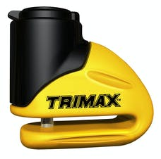 Trimax T645S Yellow Hardened Metal Disc Lock 5.5MM PIN (Short Throat) w/ Pouch & Cable