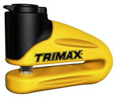 Trimax T665LY Hardened Metal Disc Lock 10Mm Pin (Long Throat) with Pouch - Yellow