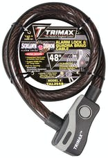 "Trimax TAL2548 Alarm Lock & Quadra-Braid Cable 25mm Cable X 48"" Length"