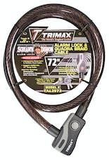 "Trimax TAL2572 Alarm Lock & Quadra-Braid Cable 25mm Cable X 72"" Length"