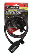 "Trimax TKC106 Standard Security Cable Lock with Bracket 72"" X 10mm"