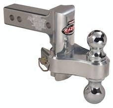 "Trimax TRZ4ALRP 4"" Pin & Clip Aluminum Drop Hitch-Dual Ball Included"