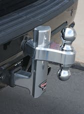 "Trimax TRZ6AL 6"" Aluminum Drop Hitch - Dual Hitch Ball Included"
