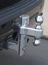 "Trimax TRZ6AL 6"" Aluminum Drop Hitch - Dual Hitch Ball Included"