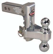 "Trimax TRZ6ALRP 6"" Pin & Clip Aluminum Drop Hitch-Dual Ball Included"