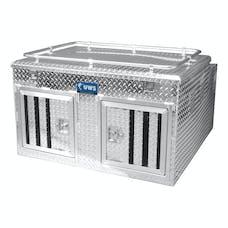 "UWS DB-4848N 48"" X 48"" Aluminum Dog Box Double Door with Full Enclosure & Storage"