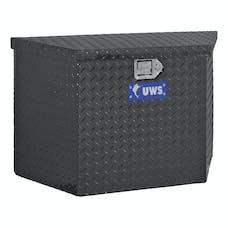 "UWS TBV-49-BLK 49"" Aluminum Trailer Chest Box Chest Black"