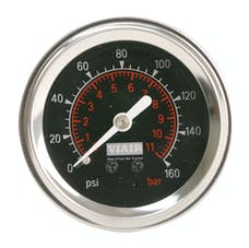 VIAIR 90088 2in Single Needle Gauge Black Face  Illuminated  160 PSI