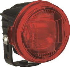 Vision X 9889726 Optimus Round Series PCV Red Cover Euro Beam