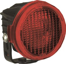 Vision X 9889733 Optimus Round Series PCV Red Cover Flood Beam