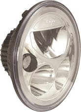 """Vision X 9891217 Single 7"""" Round Vortex LED Headlight with Low-High-Halo"""