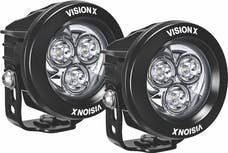 "Vision X CG2-CPM310KIT Pair Of 3.7"" 3 Led Cannon Gen 2 Lights Including Harness"