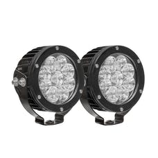WESTiN Automotive 09-12007A-PR LED Auxiliary Light 4.75 inch Round Spot with 3W Osram (Set of 2)