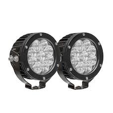 WESTiN Automotive 09-12007B-PR LED Auxiliary Light 4.75 inch Round Flood with 3W Osram (Set of 2)
