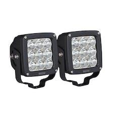 WESTiN Automotive 09-12219B-PR LED Auxiliary Light 4.5 inch x 4.5 inch Square Flood with 3W Osram (Set of 2)