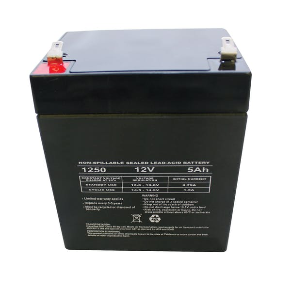 WESTiN Automotive 65-75023 Replacement 5 AMP Battery Black