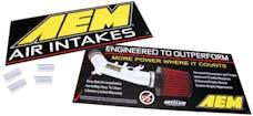 AEM Induction Systems 10-938 Sign Kit; AEM Logo & Intake Benefits 2pk