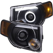 AnzoUSA 111355 Projector Headlights with Halo Black