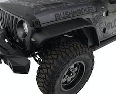 Bushwacker 10101-07 Flat Style Jeep Fender Flares, 2pc
