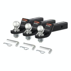 "CURT 45035 Loaded Ball Mounts with 1-7/8"" Balls (2"" Shank, 3,500 lbs., 2"" Drop, 3-Pack)"