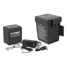 CURT 52044 Push-to-Test Breakaway Kit with Top-Load Battery