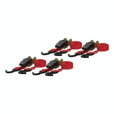 CURT 83002 16' Red Cargo Straps with S-Hooks (500 lbs., 4-Pack)