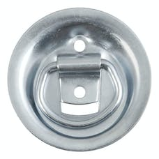 "CURT 83710 1-1/8"" x 1-5/8"" Recessed Tie-Down Ring (1,000 lbs., Clear Zinc)"