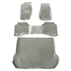 Outland Automotive 391498833 Floor Liners, Kit, Gray; 05-10 Jeep Grand Cherokee WK