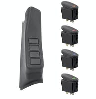 Rugged Ridge 17235.97 A-Pillar 4 Switch Pod Kit, Black Right