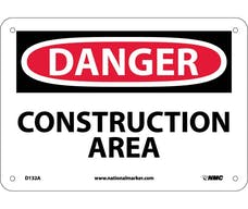 """CONSTRUCTION AREA"" Sign, 14"" Width x 10"" Height"