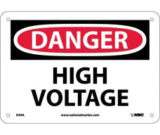 """DANGER HIGH VOLTAGE"" Sign, 14"" Width x 10"" Height"